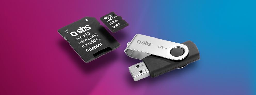 Chiavette USB e schede di memoria SBS