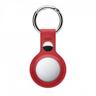 Synthetic leather AirTag case with key ring