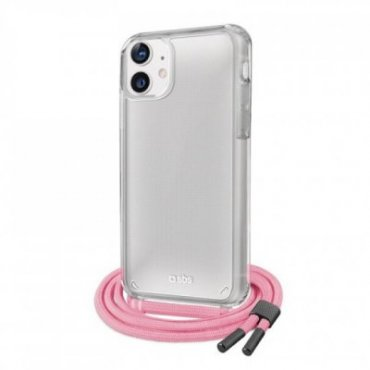 Transparent cover with coloured neck strap for iPhone 12/12 Pro