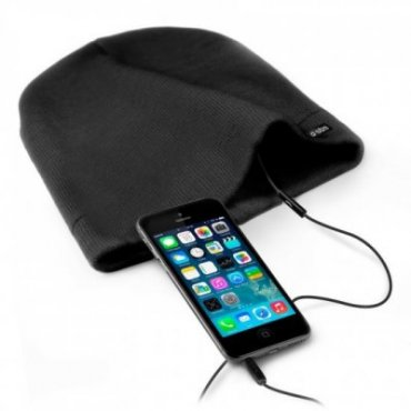 Winter caps  with stereo headphone, microphone and answer button