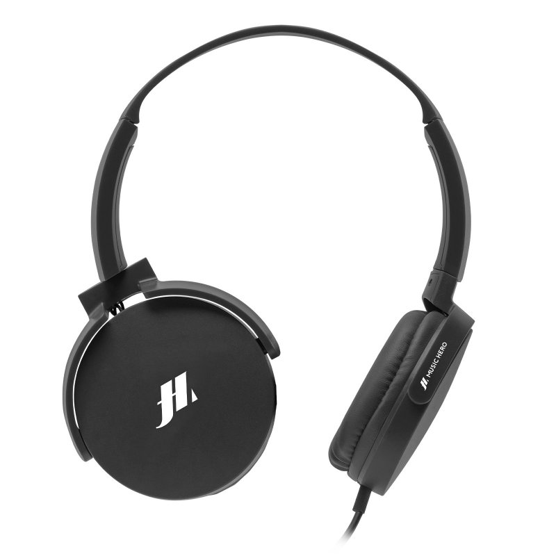 Wired headphones with soft rotating earcups