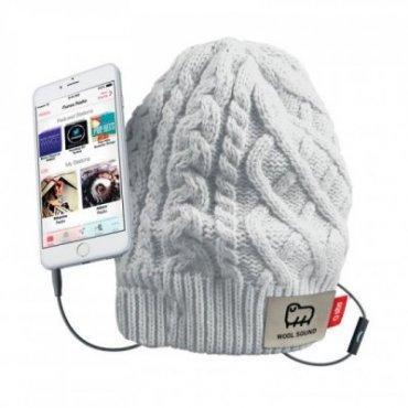 Cap with integrated headphones