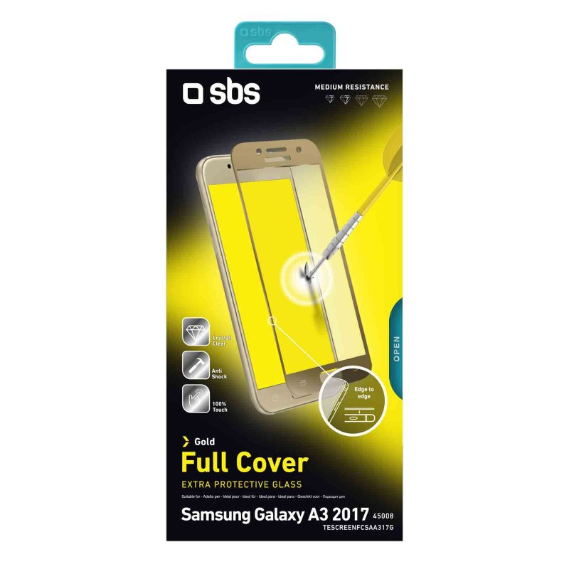 Full Cover Glass Screen Protector for Samsung Galaxy A3 2017