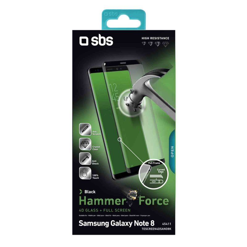 4D Full Glass Screen Protector for Samsung Galaxy Note 8