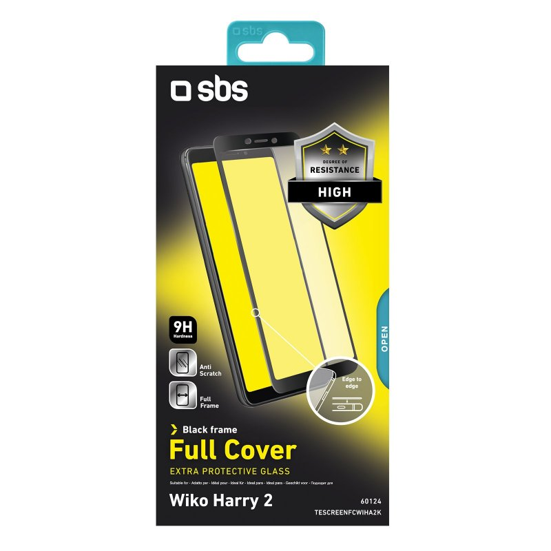 Full Cover Glass Screen Protector for Wiko Harry 2