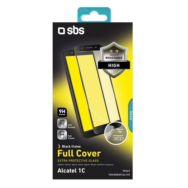 Full Cover Glass Screen Protector for Alcatel 1C