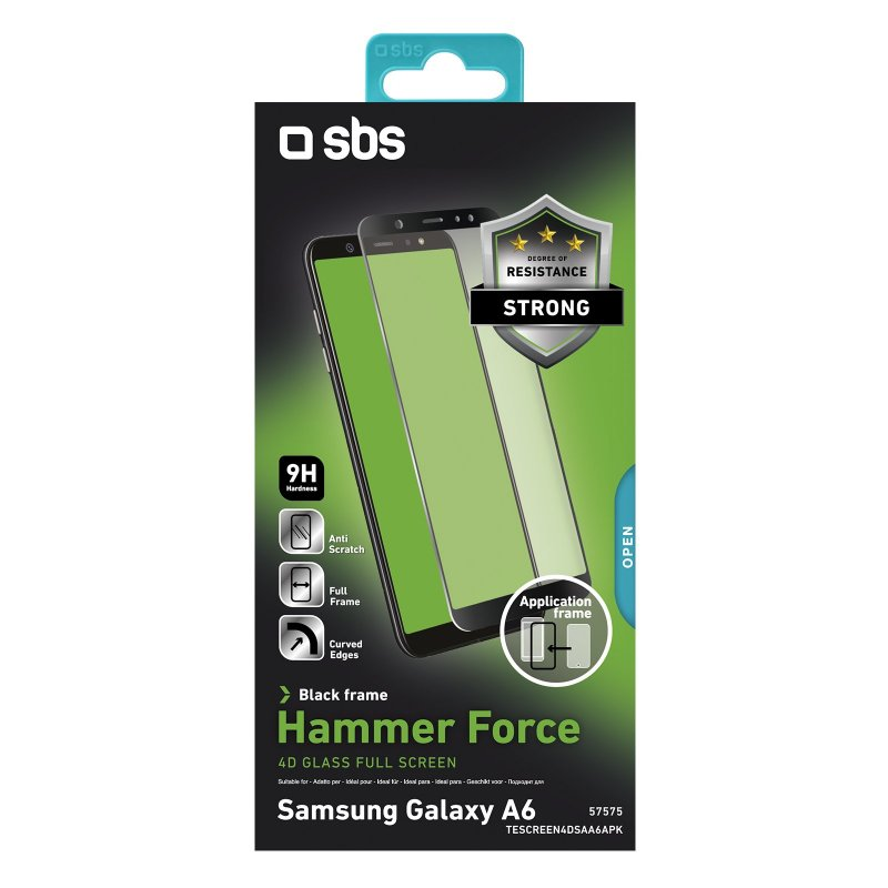Glass Screen protector 4D Full Screen for Samsung Galaxy A6 with applicator