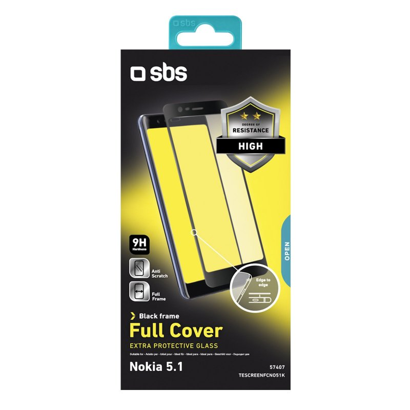 Full Cover Glass Screen Protector for Nokia 5.1