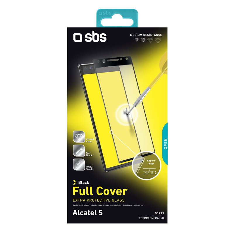 Full Cover Glass Screen Protector for Alcatel 5