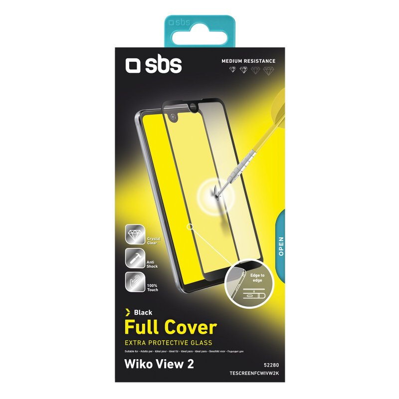 Full Cover glass screen protector for Wiko View 2