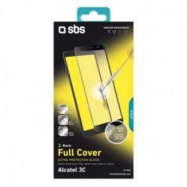 Full Cover glass screen protector for Alcatel 3C