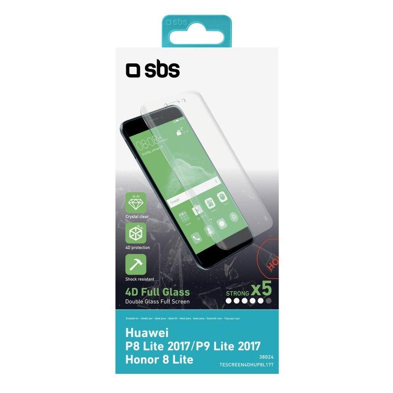 4D Glass Screen Protector for Huawei P8 Lite 2017/P9 Lite 2017/Honor 8 Lite/Nova Lite