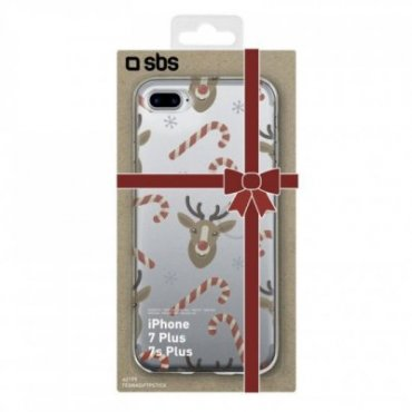 Christmas reindeer and candy canes cover for iPhone 8 plus/7 plus