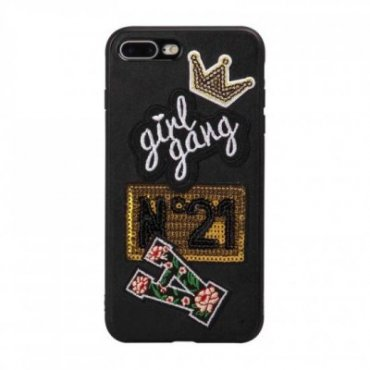 Girl Gang patch cover for iPhone 8 Plus/7 Plus