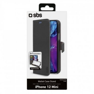 Book Wallet Case with stand function for iPhone 12 Mini