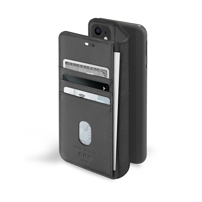 Genuine leather book case for iPhone 12/12 Pro