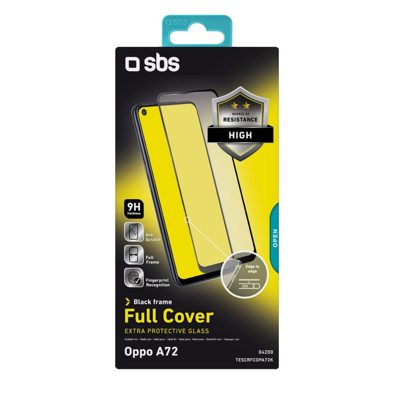 Full Cover Glass Screen Protector for Oppo A72