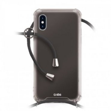 School cover with neck strap for iPhone XS/X