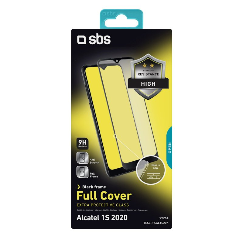 Full Cover Glass Screen Protector for Alcatel 1S 2020