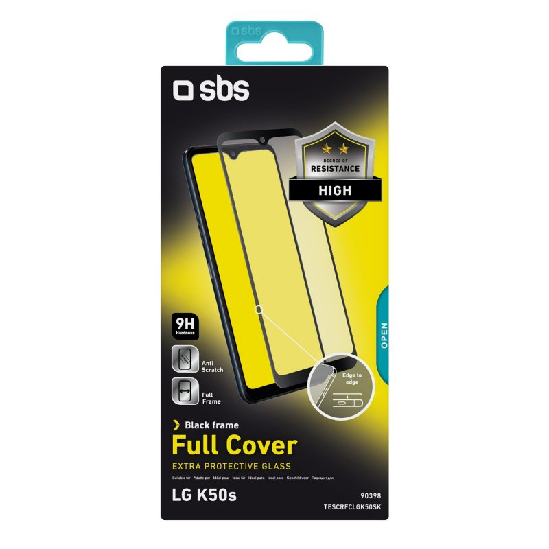 Full Cover Glass Screen Protector for LG K50s