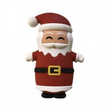 Christmas power bank with Santa Claus design