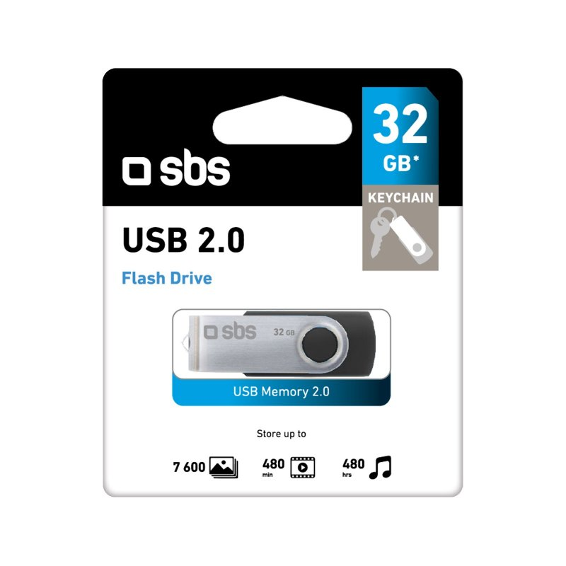 32GB Swivel USB 2.0 Flash Drive