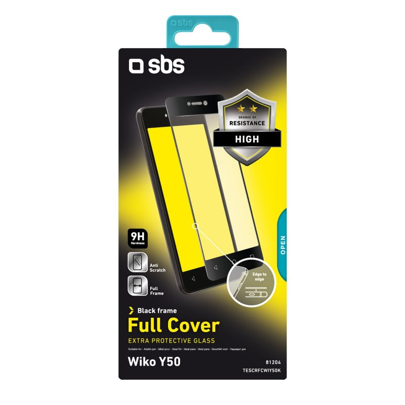 Full Cover Glass Screen Protector for Wiko Y50