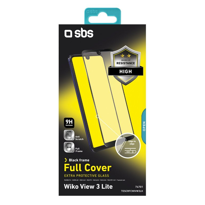 Full Cover Glass Screen Protector for Wiko View 3 Lite