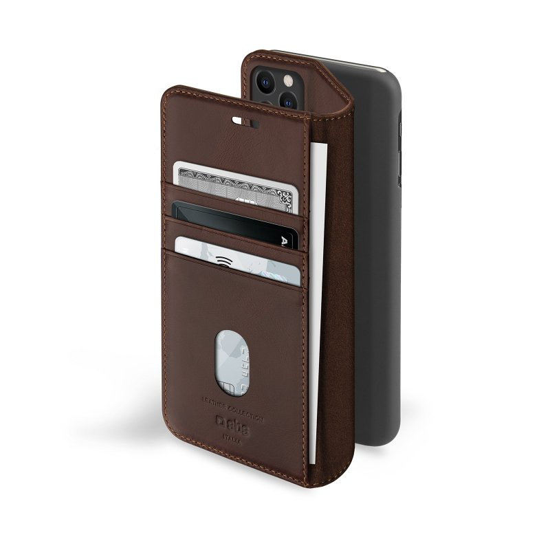 Genuine leather book case for iPhone 11 Pro