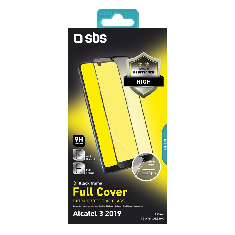 Full Cover Glass Screen Protector for Alcatel 3 2019