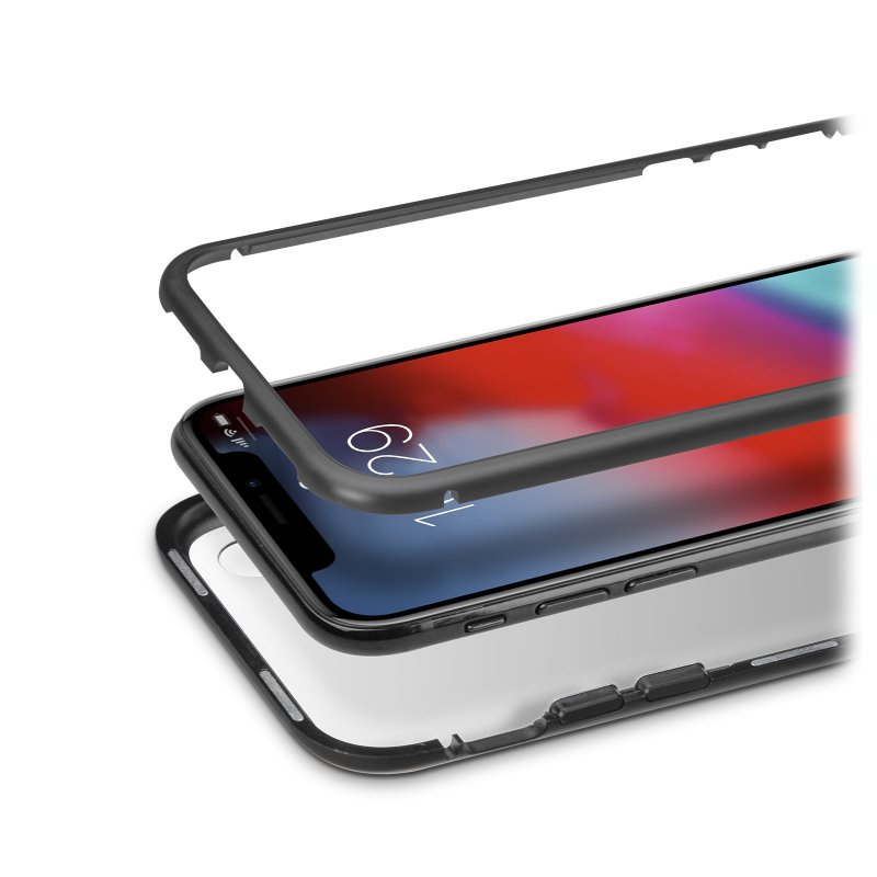 Aluminium and tempered glass cover for iPhone XR