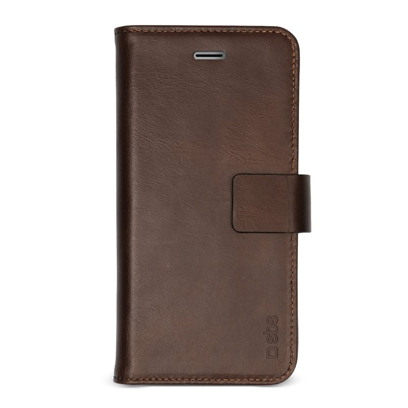 Genuine leather book case for iPhone SE 2020/8/7/6s/6