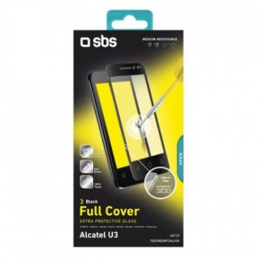 Full Cover Glass Screen Protector for Alcatel U3