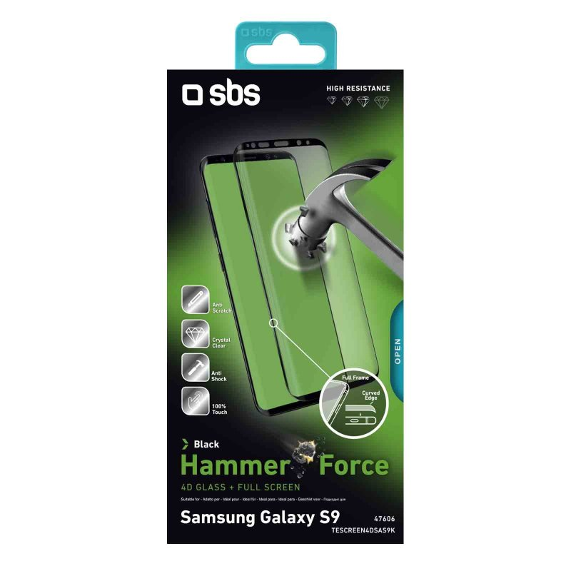 4D Full Glass Screen Protector for Samsung Galaxy S9