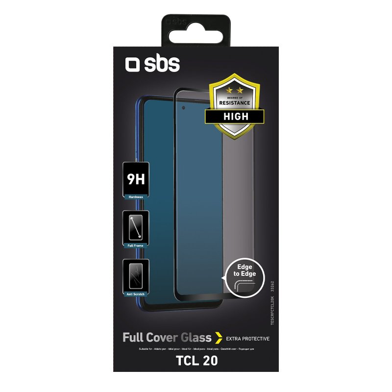 Full Cover Glass Screen Protector for TCL 20