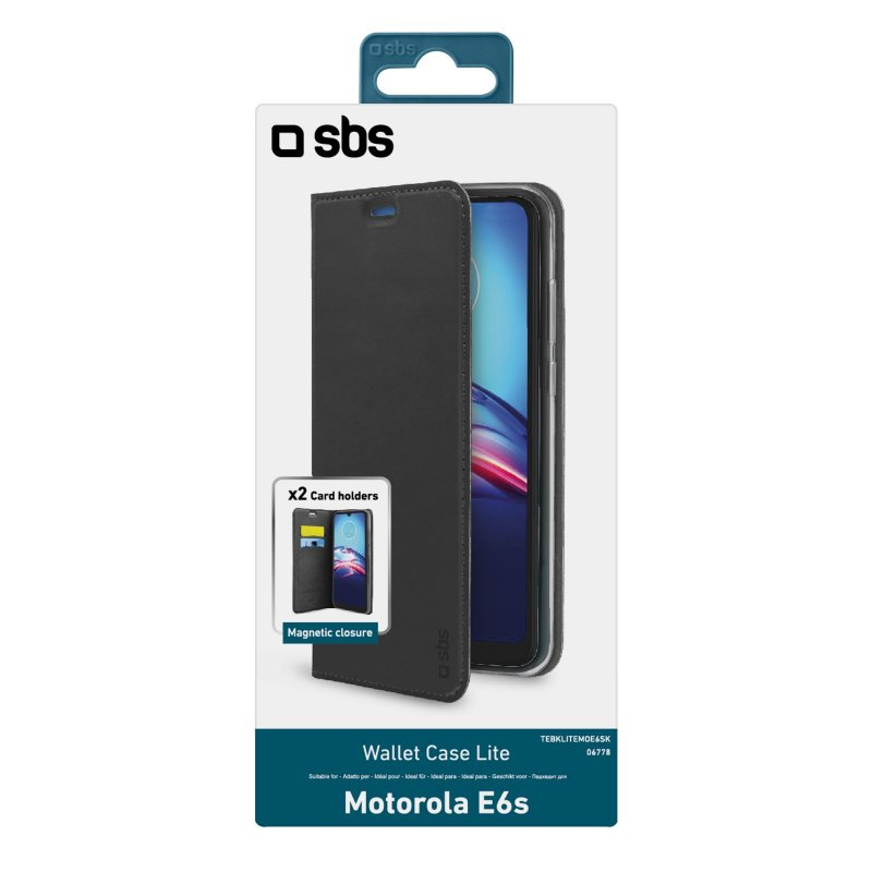 Book Wallet Lite Case for Motorola Moto E6s/E6s Plus/E6i