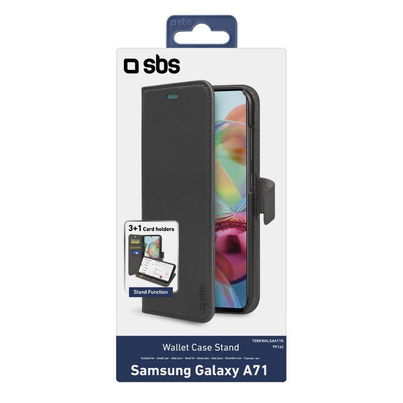 Book Wallet Case with stand function for Samsung Galaxy A71