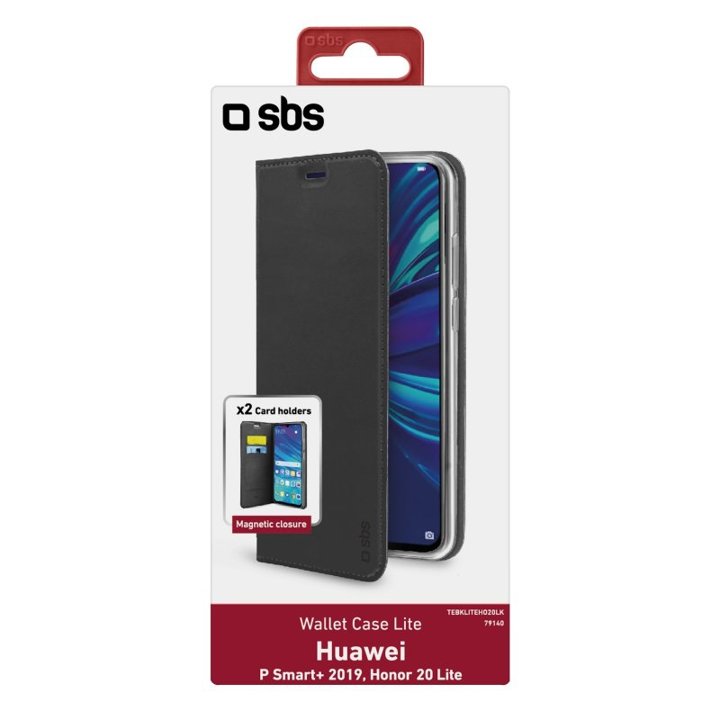 Book Wallet Lite Case for Honor 20 Lite/Huawei P Smart+ 2019