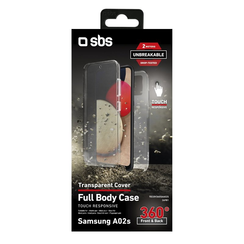 360° Full Body cover for Samsung Galaxy A02s - Unbreakable Collection