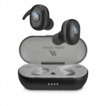 TWS Twin Buddies - earphones with earbud hook and charging case