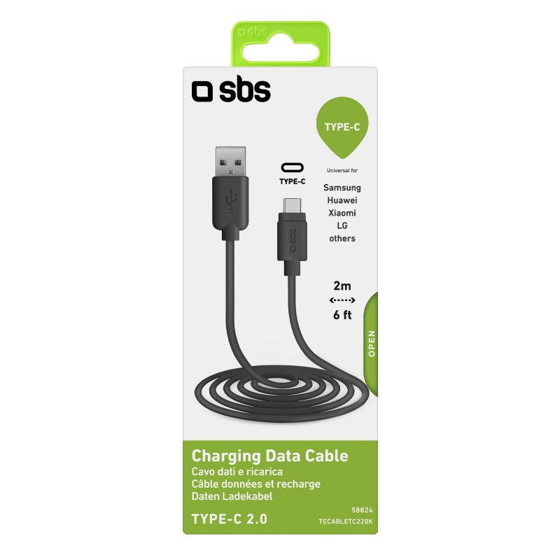 Data cable and Type-C charger, 2 metres long