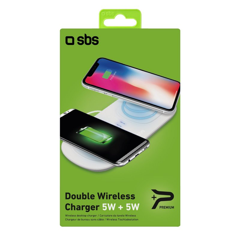 Dual base for 5W + 5W wireless charging