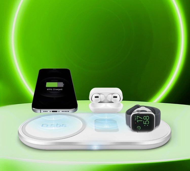 Caricatore wireless per 3 dispositivi
