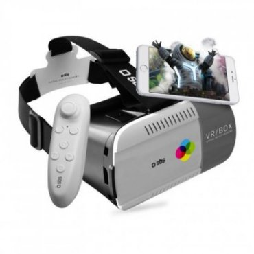 Virtual reality viewer and joystick for smartphones
